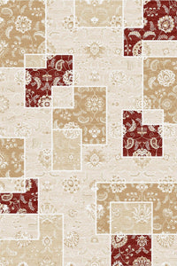 Maxmar Carpet Selimiye Series White Decorative Area Rug 3012
