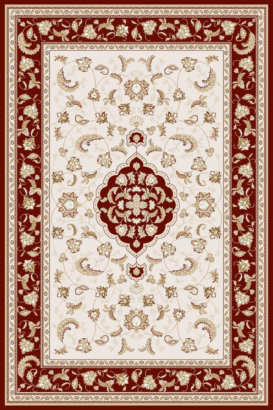 Maxmar Carpet Selimiye Series Red Decorative Area Rug 3013