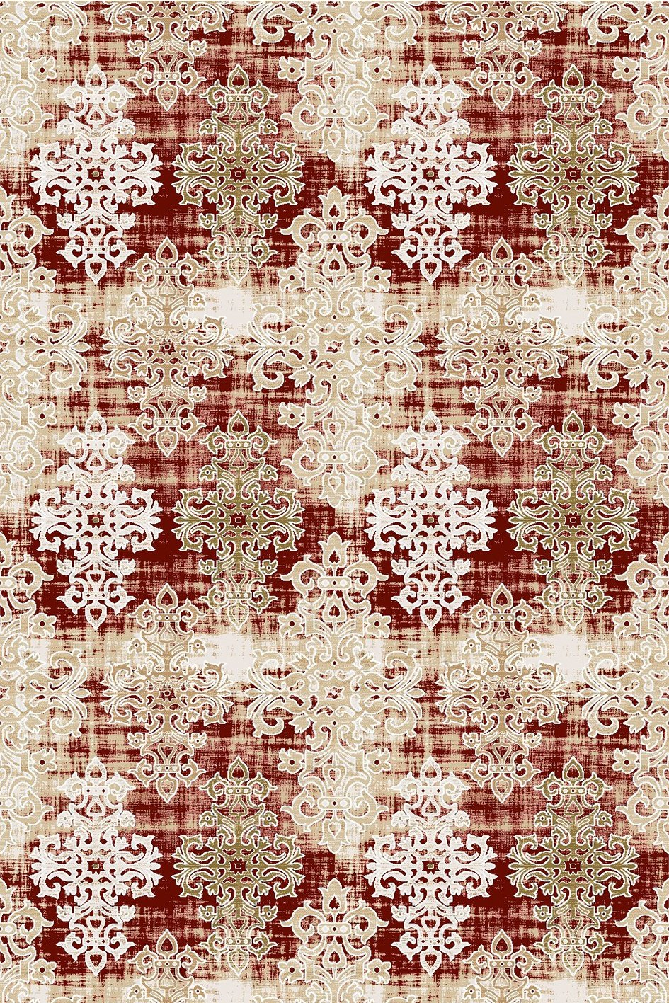 Maxmar Carpet Selimiye Series Red Decorative Area Rug 3019