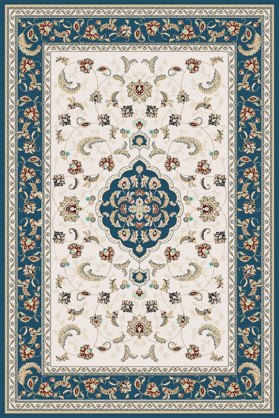 Maxmar Carpet Gulendam Series Blue Decorative Area Rug 3022