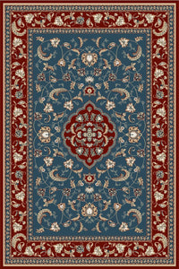 Maxmar Carpet Gulendam Series Blue Red Decorative Area Rug 3022