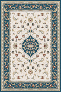 Maxmar Carpet Gulendam Series White Blue Decorative Area Rug 3022