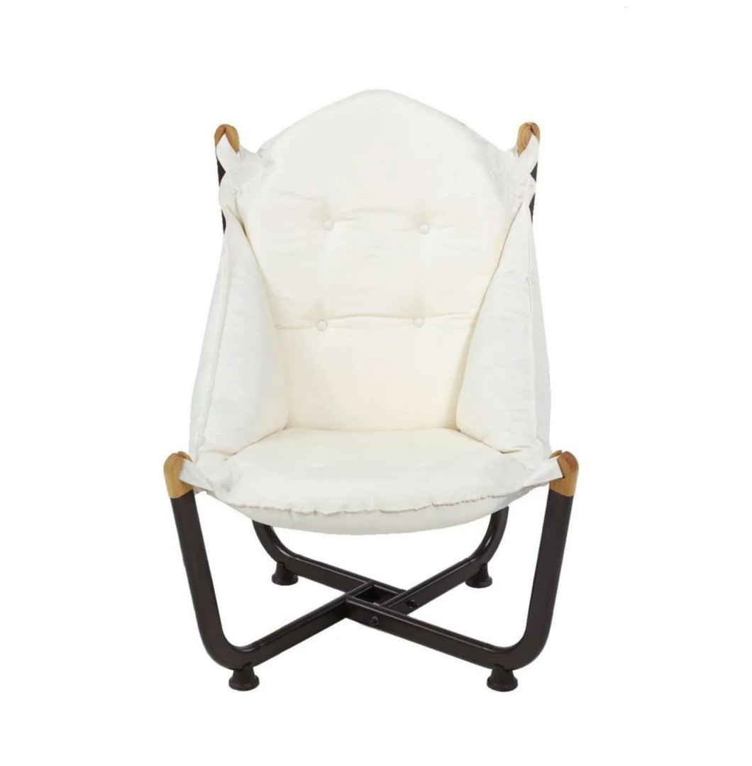 Longshore Tides Abramson Patio Chair Metal Outdoor Club Chairs White