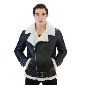 Berlin Men's Leather Jacket Casual Fashion Stand Collar Motorcycle Jacket Men Slim Style Quality Leather Genuine Lambskin