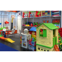 Load image into Gallery viewer, Plastic Playhouse Blue/Beige - Indoor/Outdoor 100x85 cm