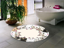 Load image into Gallery viewer, Etgbuy Sweet Cats Design Decorative Round Area Rug