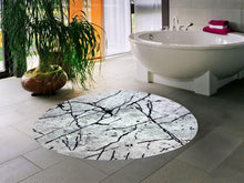 Load image into Gallery viewer, Etgbuy Gray Fancy Decorative Round Area Rug