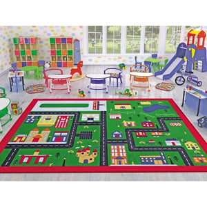 "Rugs for kids Town Theme by Antdecor  4'x 6' 52""x 75"" 133x190 cm - Cross Border Exporter"