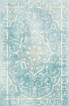 Load image into Gallery viewer, Etgbuy Soft Blue Velvety-looking Ethnic Area Rug