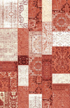 Load image into Gallery viewer, Etgbuy Patch Design Red Ethnic Area Rug