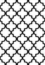 Load image into Gallery viewer, Etgbuy Black and White Geometric Figures Area Rug