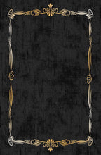 Load image into Gallery viewer, Etgbuy Hellenistic Black and Gold Area Rug