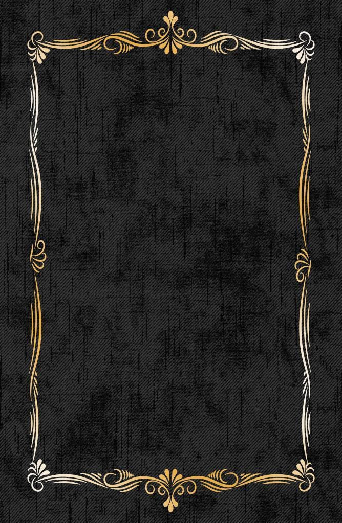 Etgbuy Hellenistic Black and Gold Area Rug