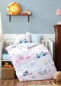 Gaia Rabbit Baby Room Bedding Linens Set Twin 3 Pcs Ranforce Cotton Duvet Set