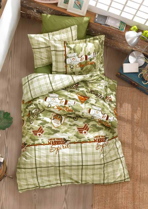Gaia Camouflage Teenage Bedding Linens Set Twin 3 Pcs Ranforce Cotton Duvet Set