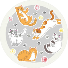 Load image into Gallery viewer, Etgbuy Cats and Kidsroom Decorative Round Area Rug