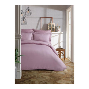 Gaia Liliac Sateen Bedding Linens Set Queen 4 Pcs Ranforce Cotton Duvet Set