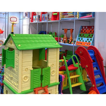 Load image into Gallery viewer, Plastic Playhouse Beige/Green - Indoor/Outdoor 120x90 cm