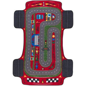 "Rugs for kids Racer Theme by Antdecor  4'x 6' 52""x 75"" 133x190 cm - Cross Border Exporter"