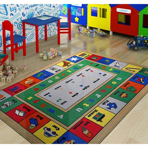 "Rugs for kids Lesson Theme by Antdecor  3'x 5' 39""x 59"" 100x150 cm - Cross Border Exporter"