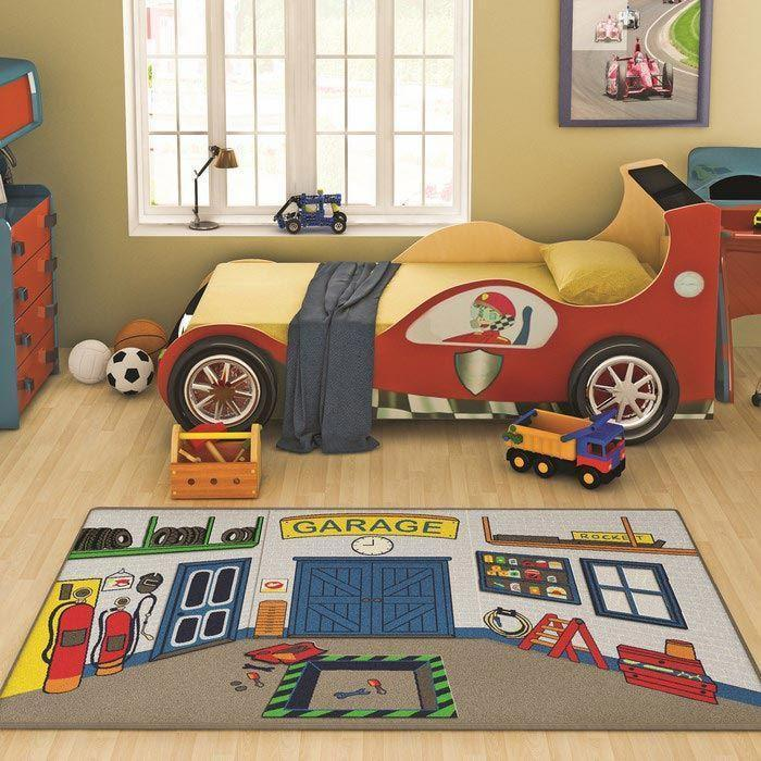 Rugs for Kids Garage Theme by Antdecor  3'x 5' 39