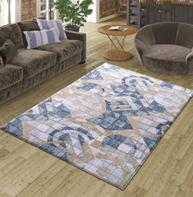 Load image into Gallery viewer, Blue Curl Decorative Carpet ( 80X150 Cm / 32X59 In