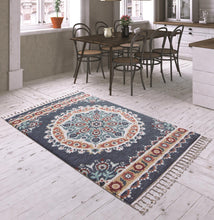 Load image into Gallery viewer, Dark Blue Curl Decorative Carpet ( 80X150 Cm / 32X59 In