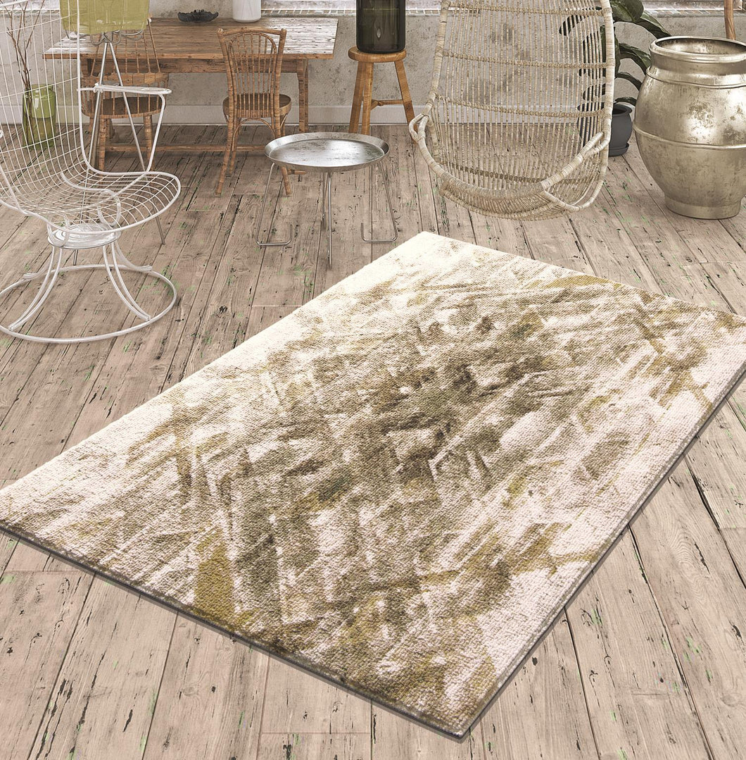 Beige Curl Decorative Carpet ( 80X150 Cm / 32X59 In
