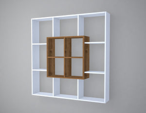 Homelante Leef Bookcase - Decorative Bookcase - White / Istanbul