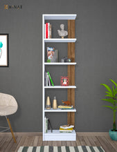 Load image into Gallery viewer, Homelante Pupis Bookcase - Bookcase with 5 Shelves Beyaz / Istanbul