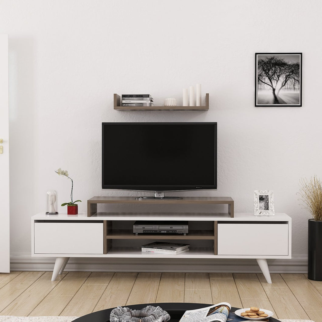 Homelante Melis Tv Unit - Tv Table - White / Istanbul