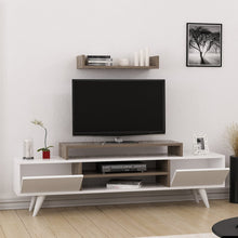 Load image into Gallery viewer, Homelante Melis Tv Unit - Tv Table - White / Istanbul
