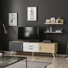 Load image into Gallery viewer, Homelante Only Tv Unit - Tv Table - White / Sapphire / Anthracite