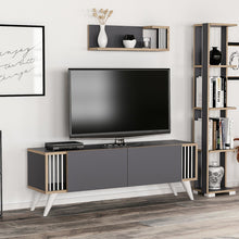 Load image into Gallery viewer, Homelante Negro Tv Unit Retro Leg - Anthracite