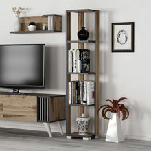 Load image into Gallery viewer, Homelante Negro Narrow Bookcase with 5 Shelves - Ciragan