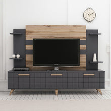 Load image into Gallery viewer, Homelante Grace Tv Unit - Tv Table - Anthracite / Ciragan