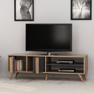 Homelante Rilla Modern Tv Unit - Tv Table - Ciragan / Anthracite