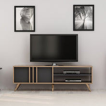 Load image into Gallery viewer, Homelante Rilla Modern Tv Unit - Tv Table - Ciragan / Anthracite