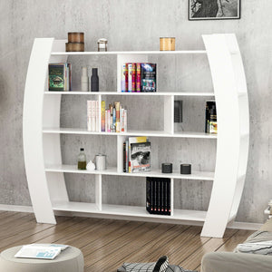 Homelante Teeth Modern Bookcase Decorative Bookcase White