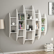 Load image into Gallery viewer, Homelante Alvino Wall Mounted Bookcase - White