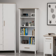 Load image into Gallery viewer, Homelante Luna Modern Bookcase - White / Cordoba