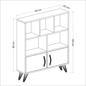 Homelante Ducky Bookcase - Bookcase with Drawers - White / Topkapı