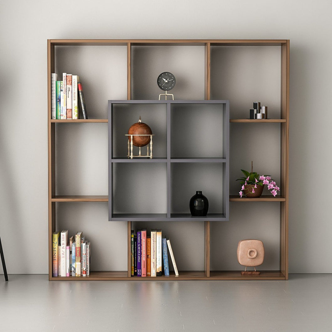 Homelante Leef Bookcase - Decorative Bookcase - Topkapi / Anthracite