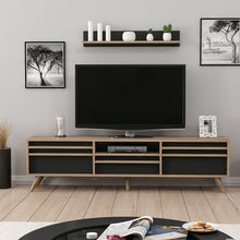 Load image into Gallery viewer, Homelante Hira Modern Tv Unit - Tv Table - Ciragan / Black