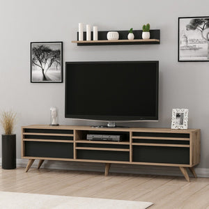 Homelante Hira Modern Tv Unit - Tv Table - Ciragan / Black