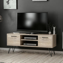 Load image into Gallery viewer, Homelante Almira Metal Leg Tv Unit - Natural Gray Pine