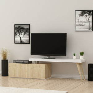 Homelante Zeo Tv Unit - White / Safir