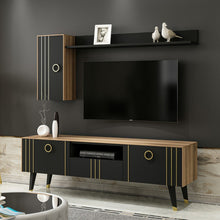 Load image into Gallery viewer, Homelante Minotti Modern Tv Unit - Black / Gold