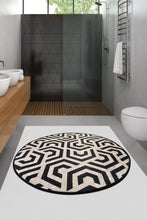 "Load image into Gallery viewer, Antdecor Line Round Bath Rug Area Rug Round Rug 40"" 100 cm - Cross Border Exporter"