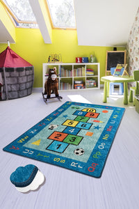 "RugstoreX Blue Seksek Rugs for kids Highway  3'x 5' 39""x 62"" 100x160 cm - Cross Border Exporter"